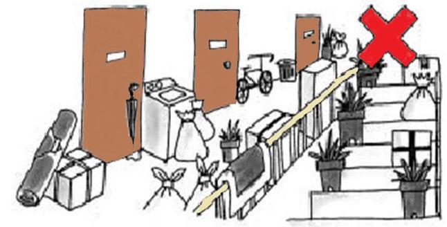 Obstáculos en zonas comunes